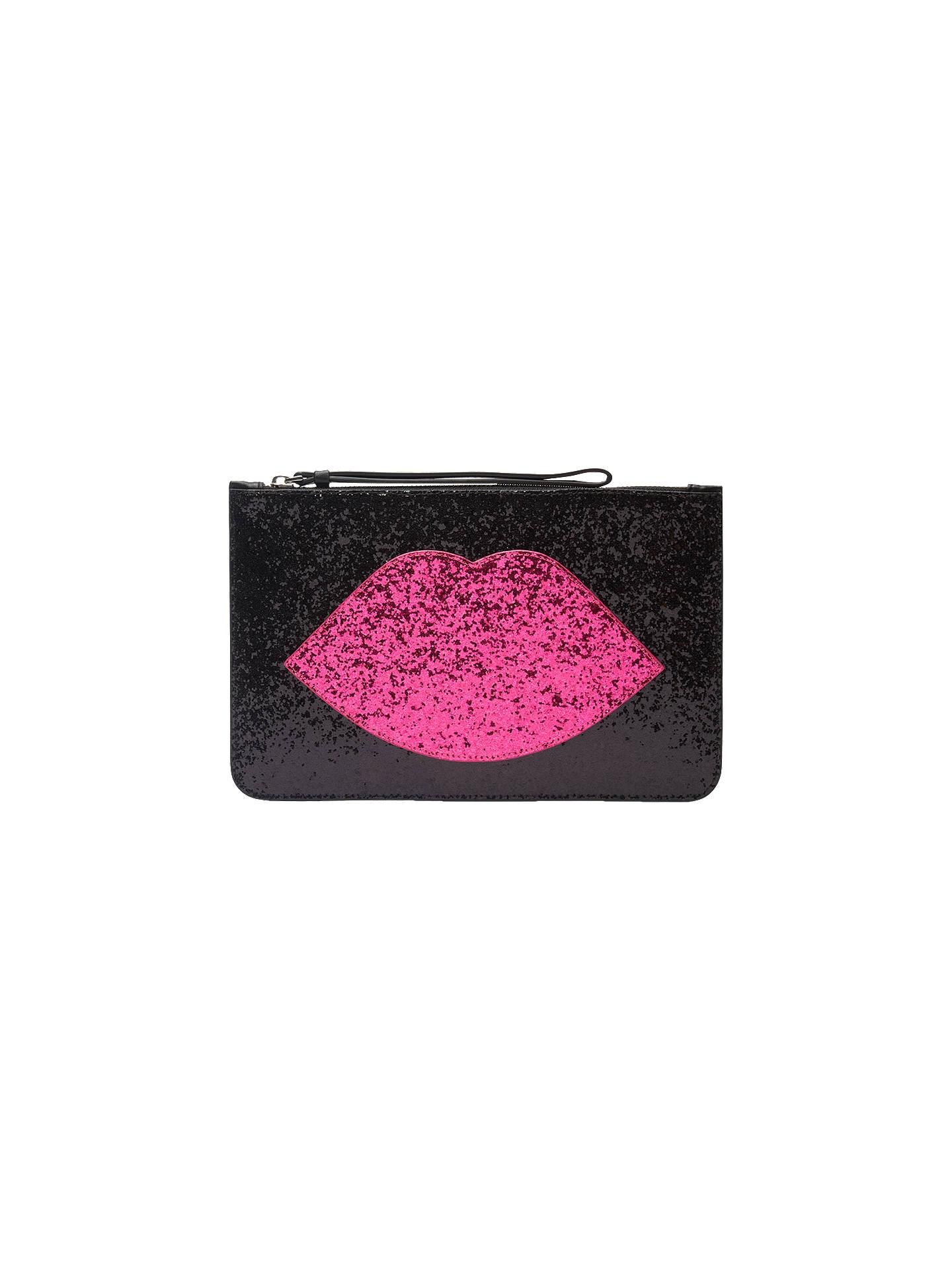 715aa02942b3 Buy Lulu Guinness Glitter Lip Grace Clutch Bag
