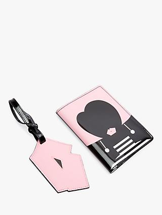 Lulu Guinness Heart Face Travel Set, Black/Pink