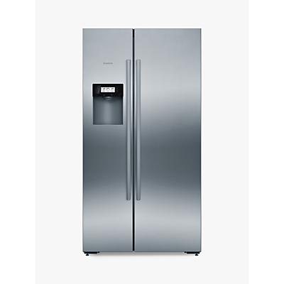 Bosch KAD92AI20G American Style Freestanding Fridge Freezer, A+ Energy Rating, 91cm, Silver