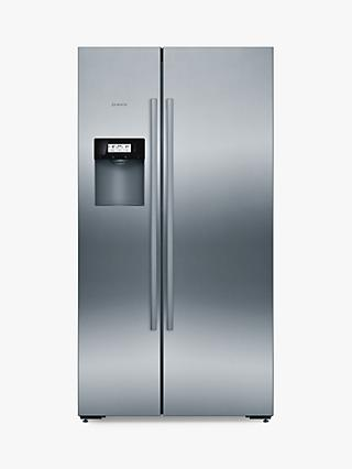 Bosch KAD92AI20G American Style Freestanding Fridge Freezer, A+ Energy Rating, 91cm, Silver