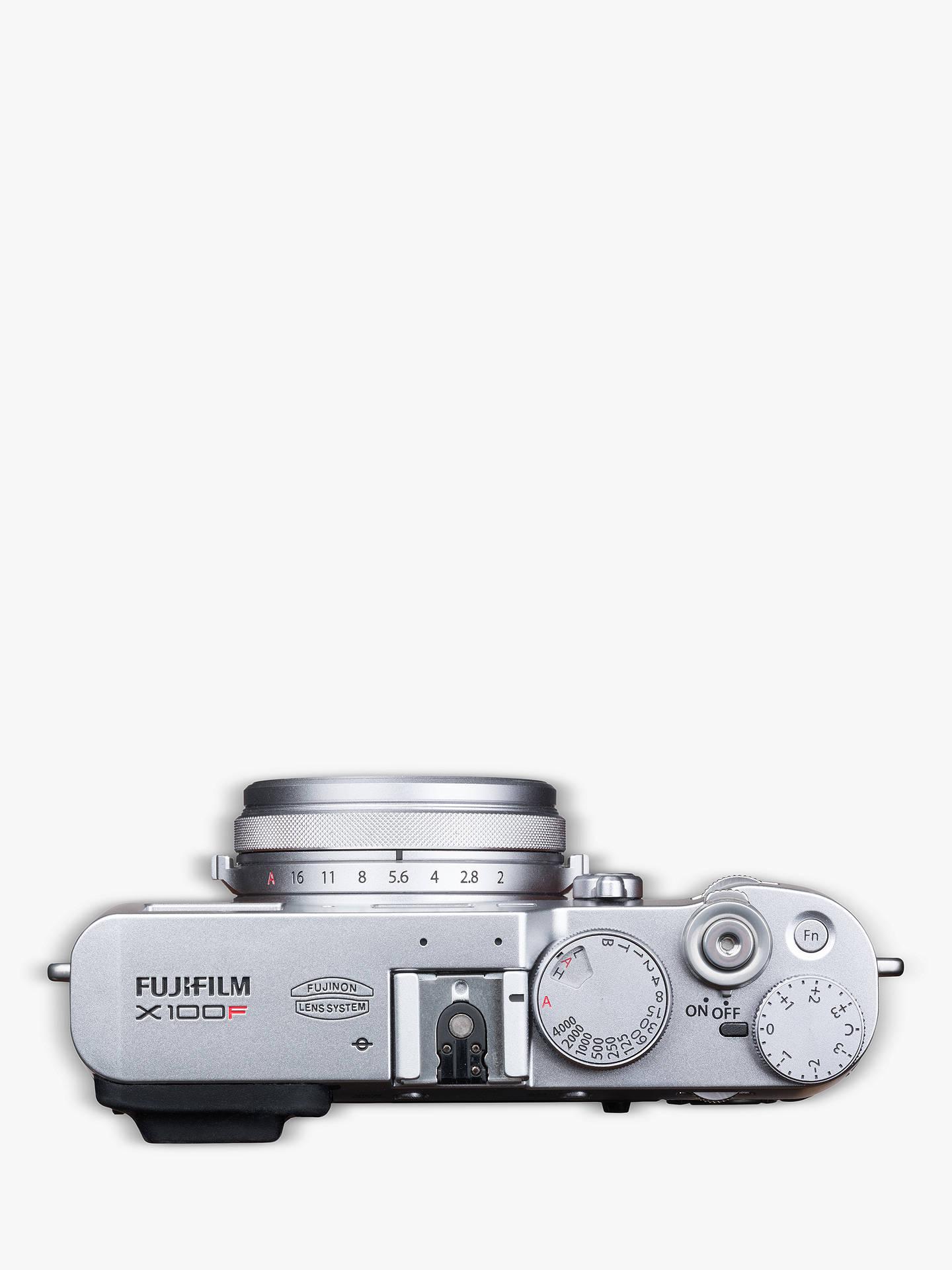 Fujifilm X100F Digital Compact Camera with 23mm Lens, 1080p Full HD,  24 3MP, Wi-Fi, Hybrid EVF/OVF, 3