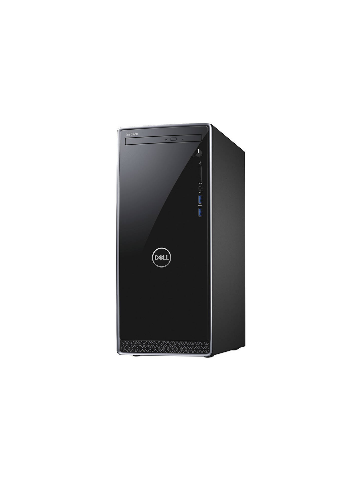 Dell Inspiron 3670 Desktop PC, Intel Core i3, 8GB RAM, 1TB HDD, Black