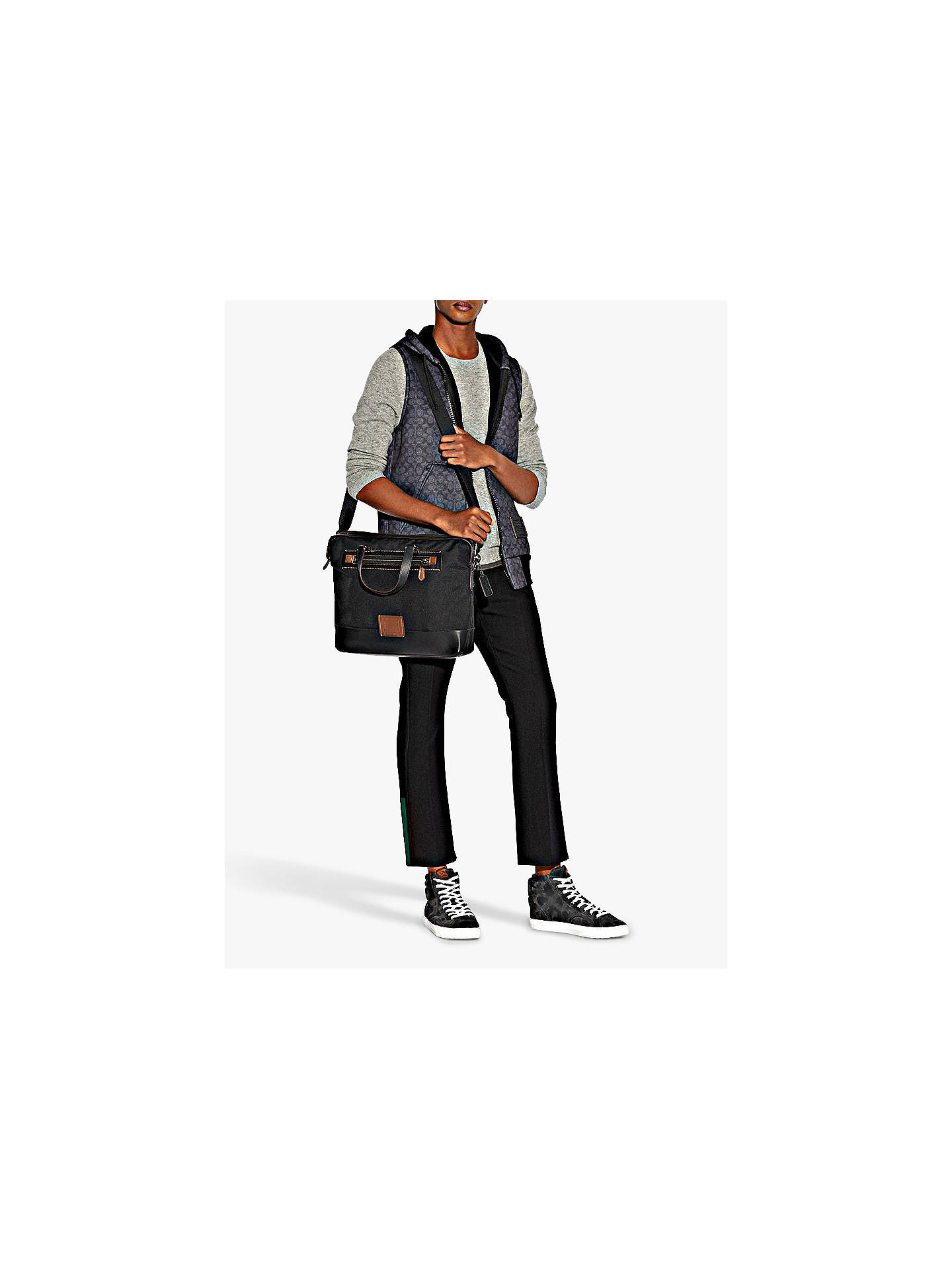 Buy coach academy holdall black online at johnlewis com