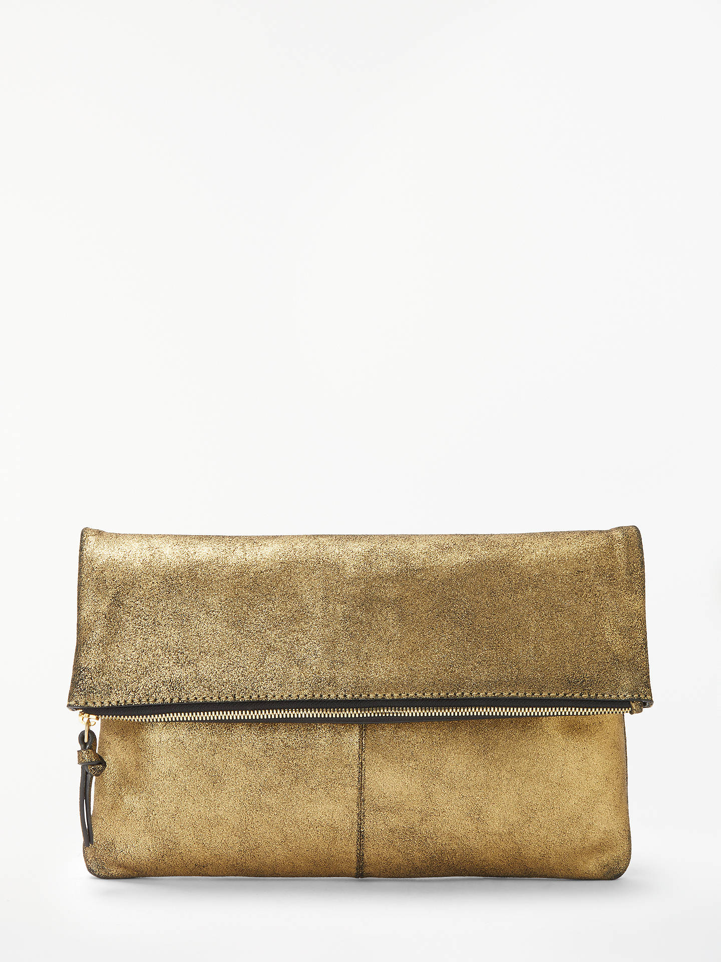 Buy AND/OR Madi Half Fold Clutch, Gold Online at johnlewis.com