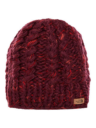 Buy The North Face Chunky Knit Beanie Hat, Fig/Faded Rose Online at johnlewis.com