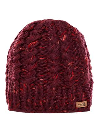 The North Face Chunky Knit Beanie Hat, Fig/Faded Rose