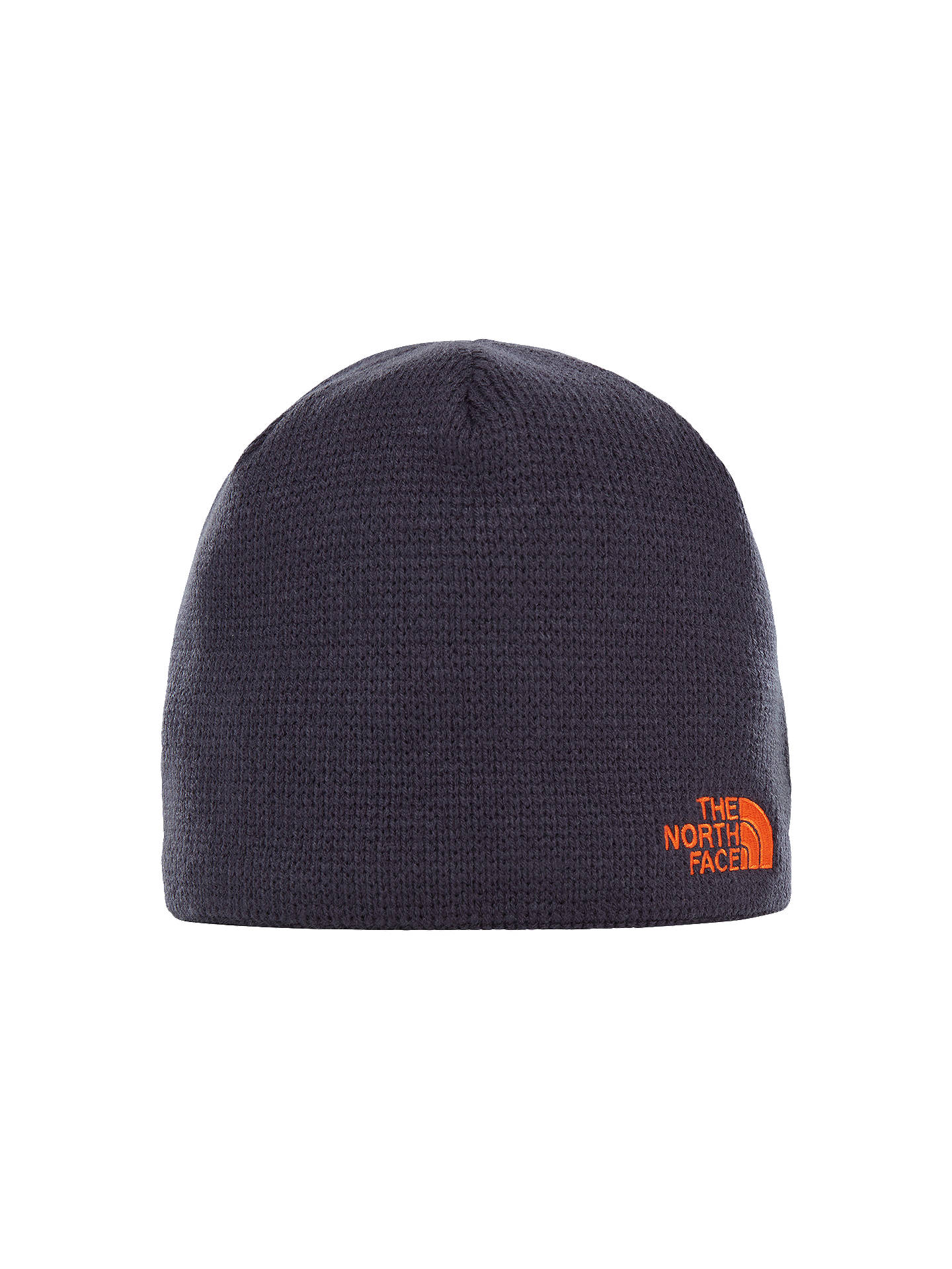 Buy The North Face Bones Beanie Hat, One Size, Navy/Persian Orange Online at johnlewis.com