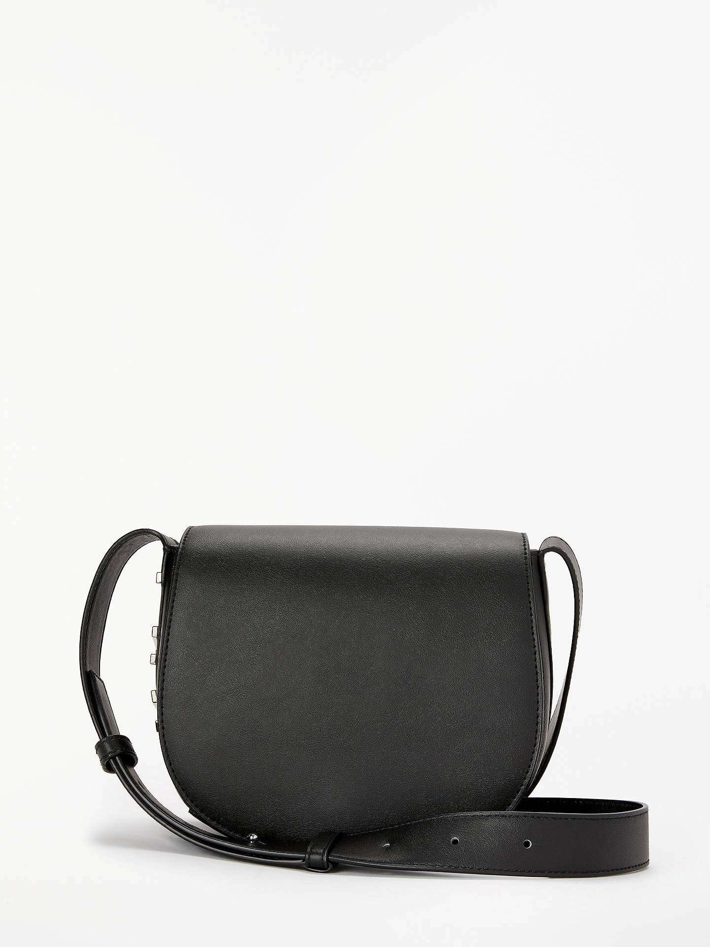 discount for sale 2018 shoes unequal in performance DKNY Bedford Leather Saddle Cross Body Bag, Black