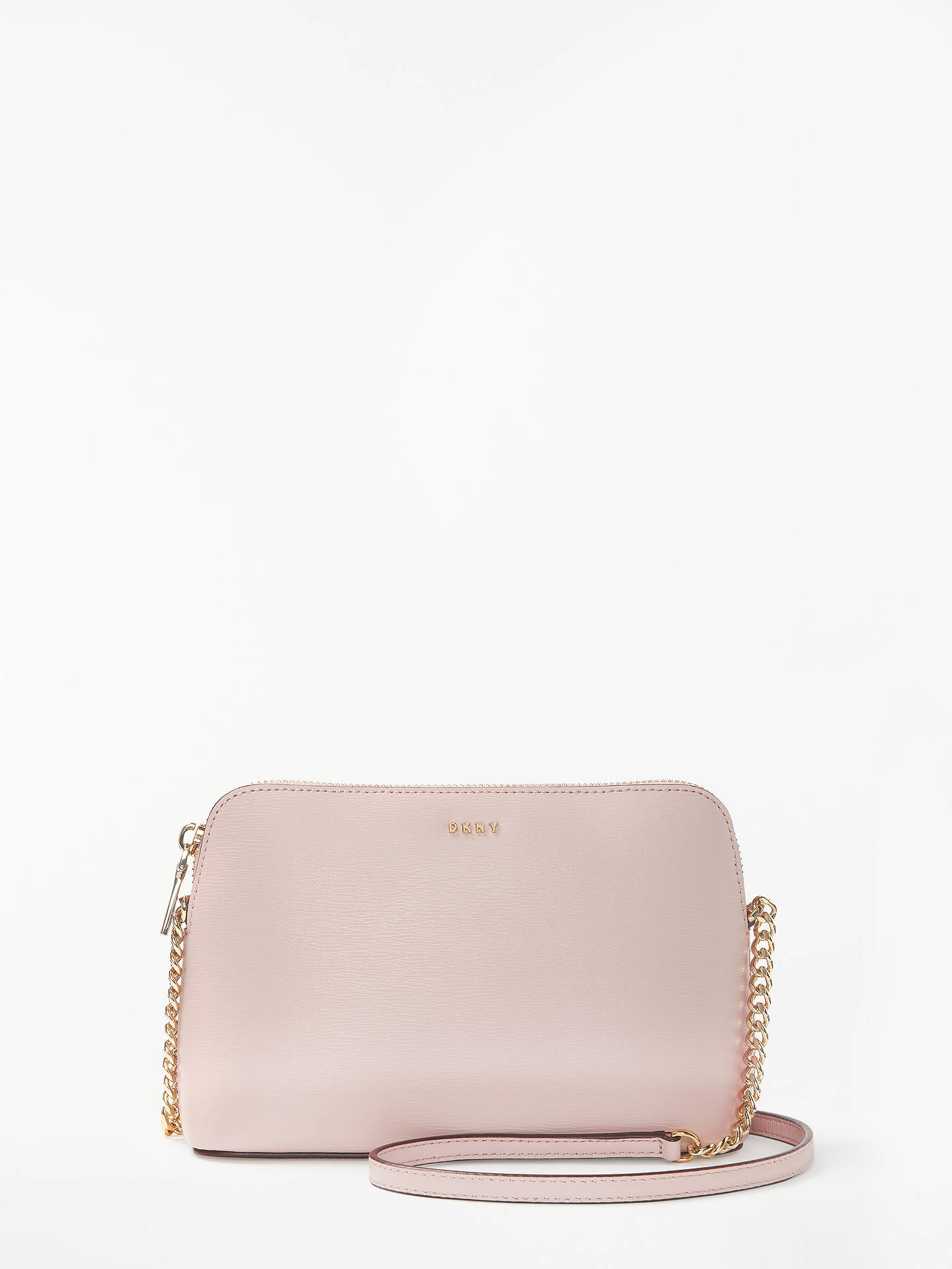 1fd145e84 Buy DKNY Bryant Dome Leather Cross Body Bag, Pink Online at johnlewis.com  ...