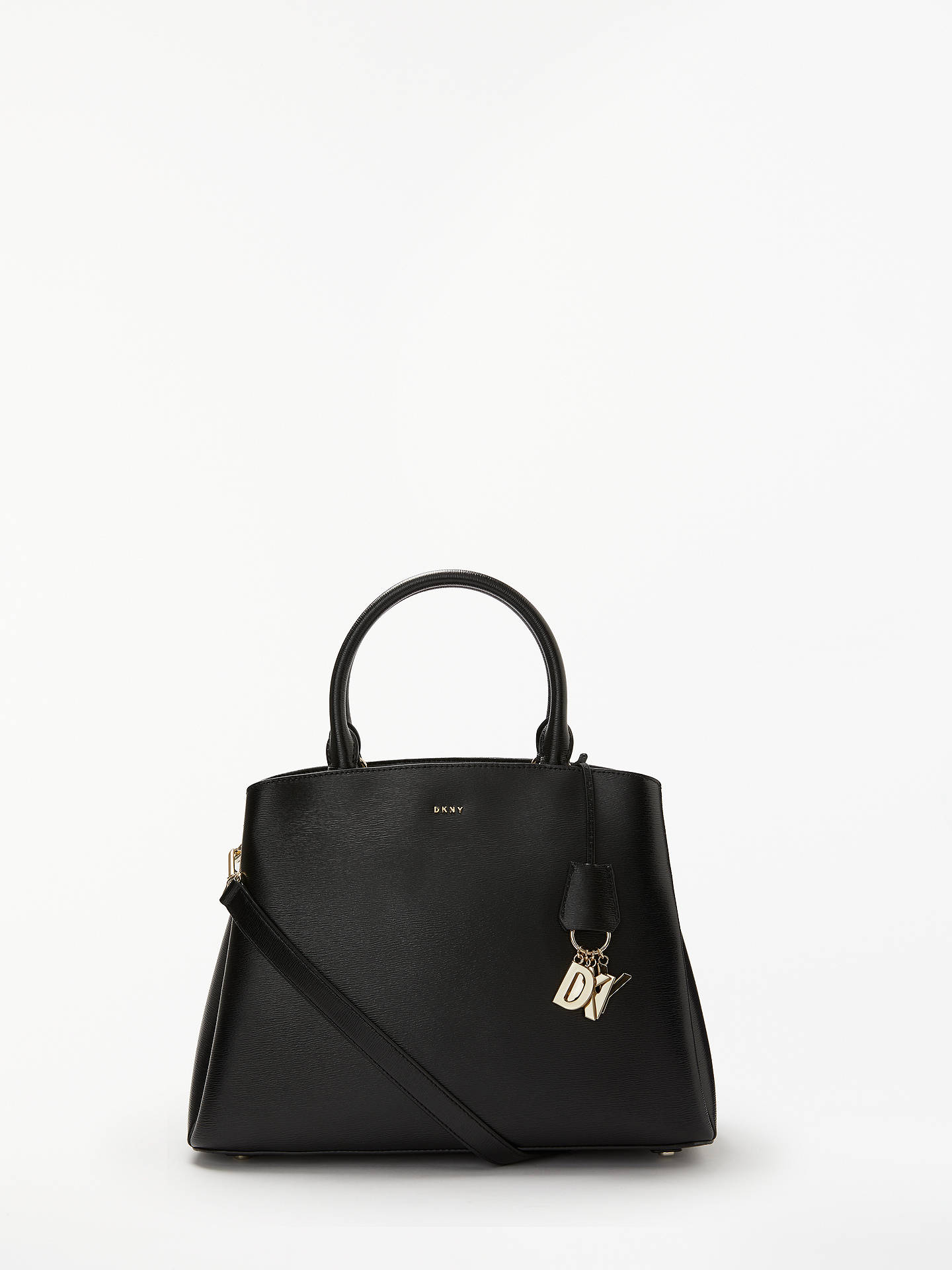 Dkny Paige Large Leather Satchel Bag Black Online At Johnlewis