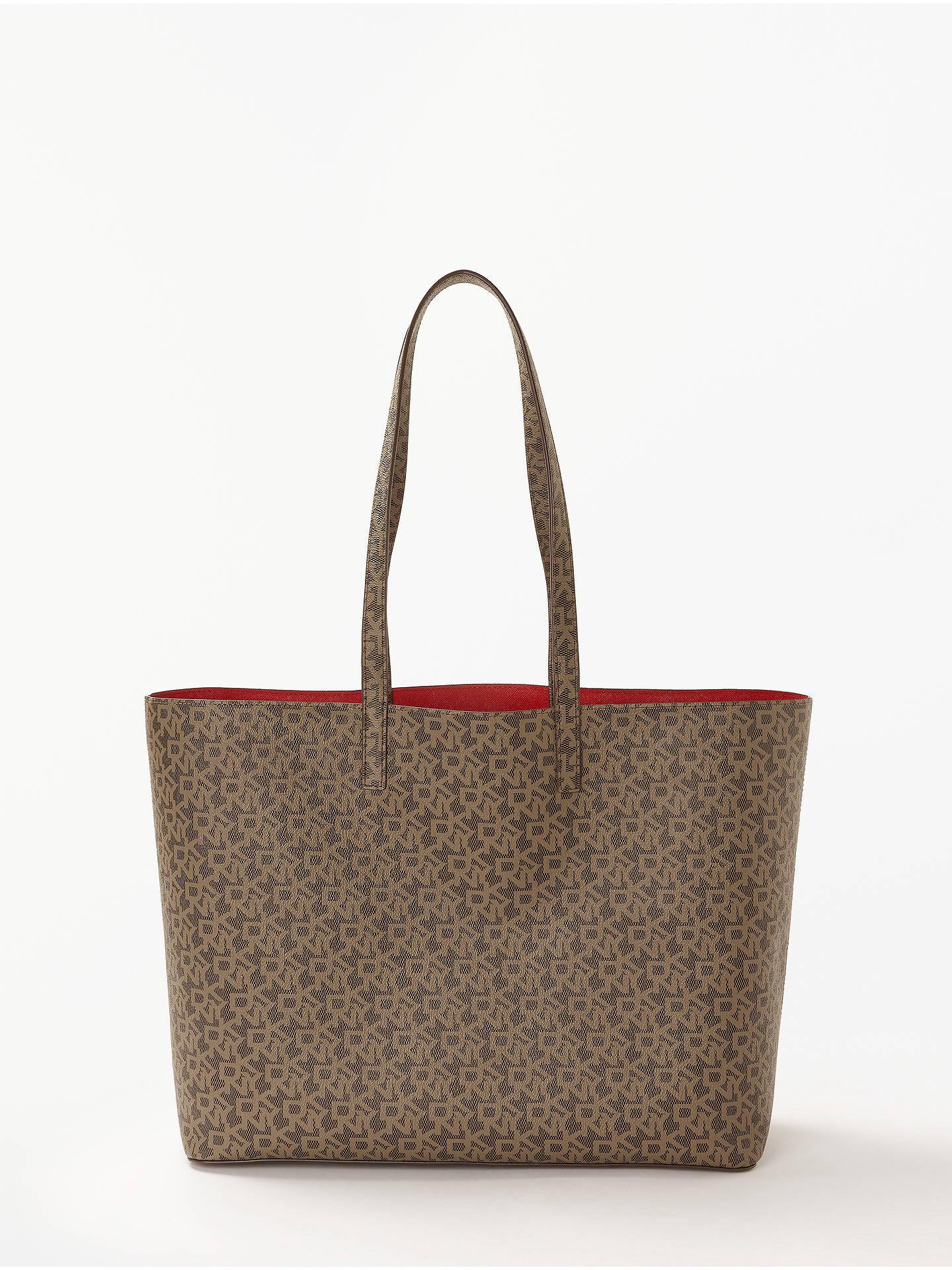 9a357fb7eaec3 Buy DKNY Brayden Logo Large Reversible Tote Bag, Mocha Online at  johnlewis.com ...