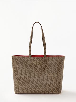 Dkny Brayden Logo Large Reversible Tote Bag Mocha