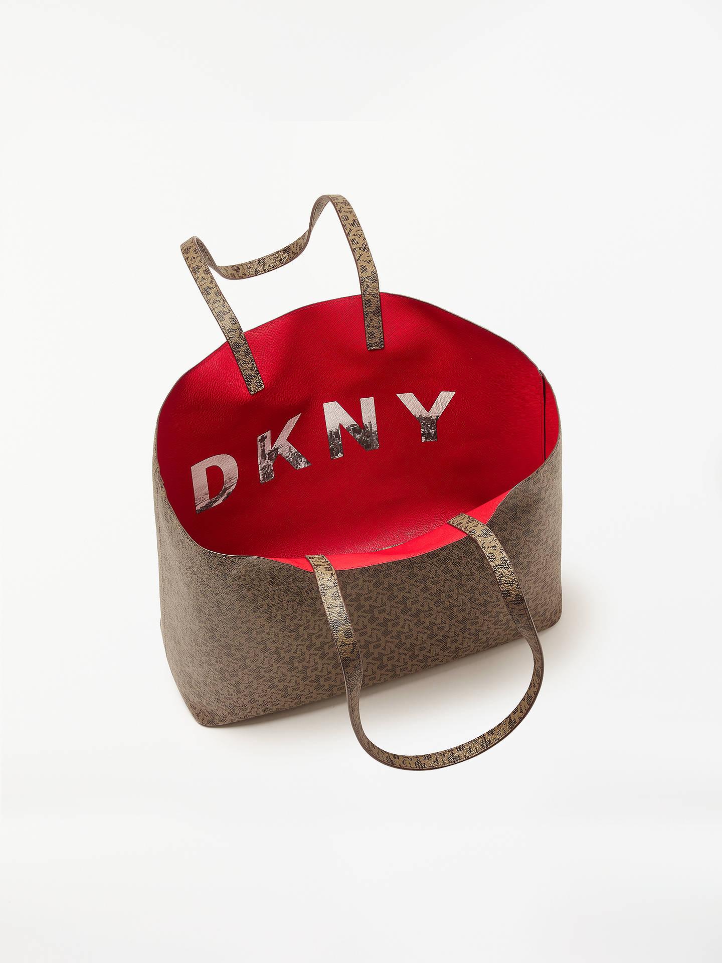 5a8f2f81fe1fd ... Buy DKNY Brayden Logo Large Reversible Tote Bag, Mocha Online at  johnlewis.com ...