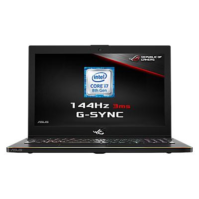 "Image of ASUS ROG Zephyrus GM501GS-EI003T Laptop, Intel Core i7, 16GB RAM, 1TB HDD + 256GB SSD, NVIDIA GeForce GTX 1070, 15.6"" 144Hz, Black"