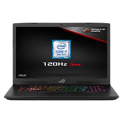 "Image of ASUS ROG Strix GL703GM-EE063T Laptop, Intel Core i7, 8GB RAM, 1TB HDD + 128GB SSD, NVIDIA GeForce GTX 1060, 17.3"" 120Hz, Black"