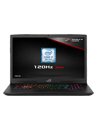 "Buy ASUS ROG Strix GL703GM-EE063T Laptop, Intel Core i7, 8GB RAM, 1TB HDD + 128GB SSD, NVIDIA GeForce GTX 1060, 17.3"" 120Hz, Black Online at johnlewis.com"