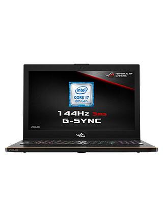 "ASUS ROG Zephyrus GM501GM-EI005T Laptop, Intel Core i7, 16GB RAM, 1TB HDD +  256GB SSD, NVIDIA GeForce GTX 1060, 15 6"" 144Hz, Black"