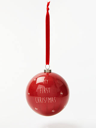 Buy John Lewis & Partners My First Christmas Bauble Online at johnlewis.com