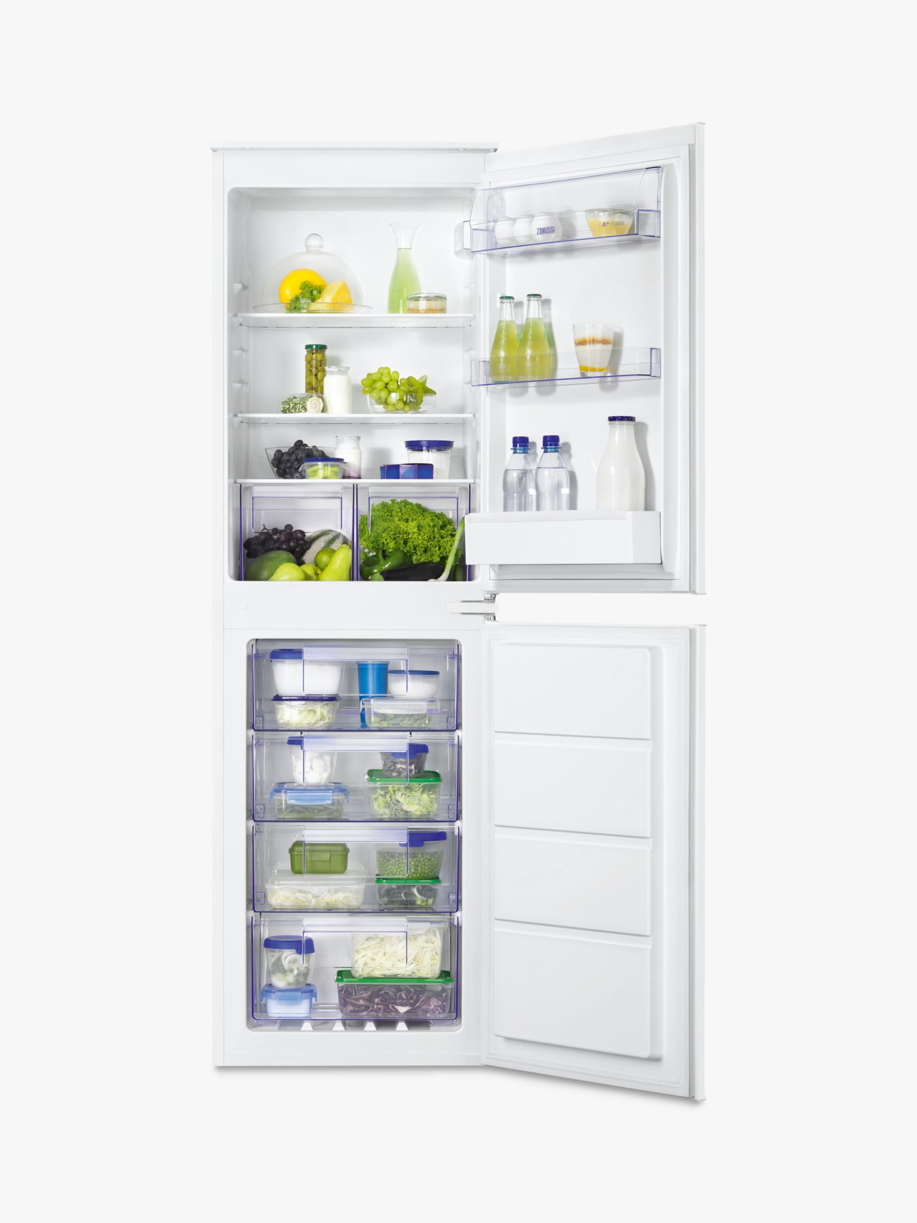 Zanussi Zanussi ZBB27640SV Integrated Fridge Freezer, A+ Energy Rating, 54cm Wide, White