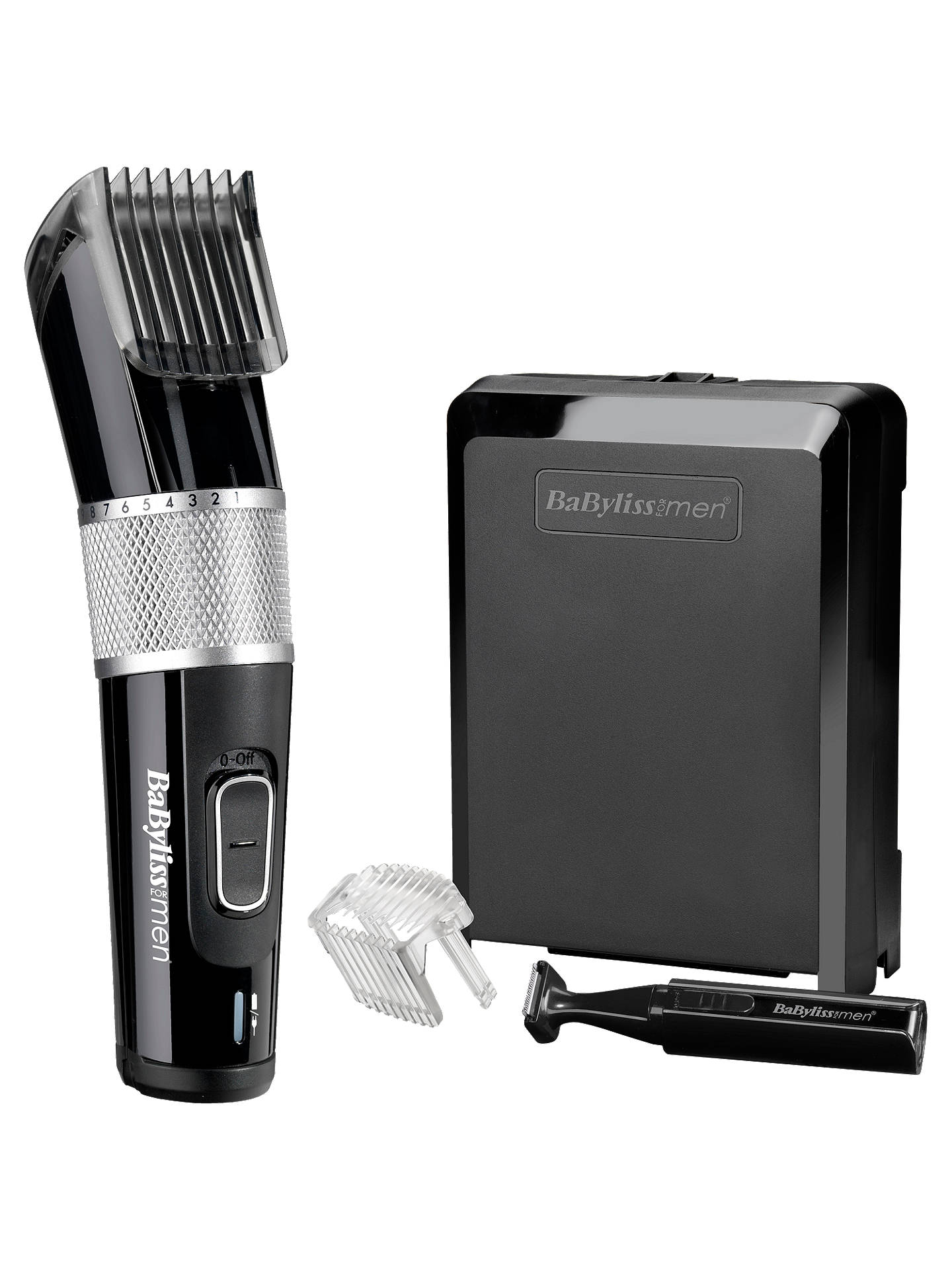 BuyBaByliss For Men 7468U Carbon Steel Clipper, Black / Silver Online at johnlewis.com