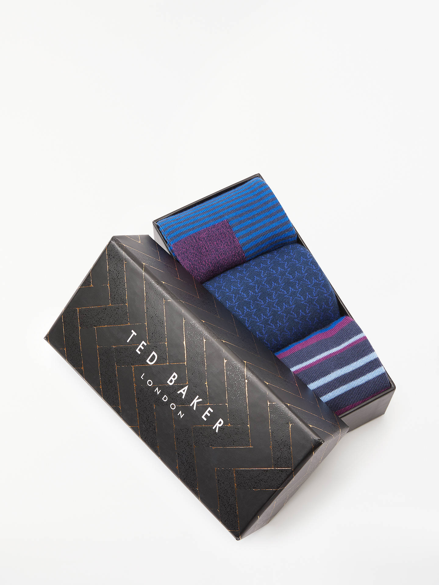 BuyTed Baker Satchin Socks, Pack of 3, One Size, Multi Online at johnlewis.com