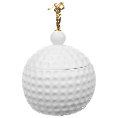 Mixology Golf Ball Ice Bucket and Tongs, White, 1.5L