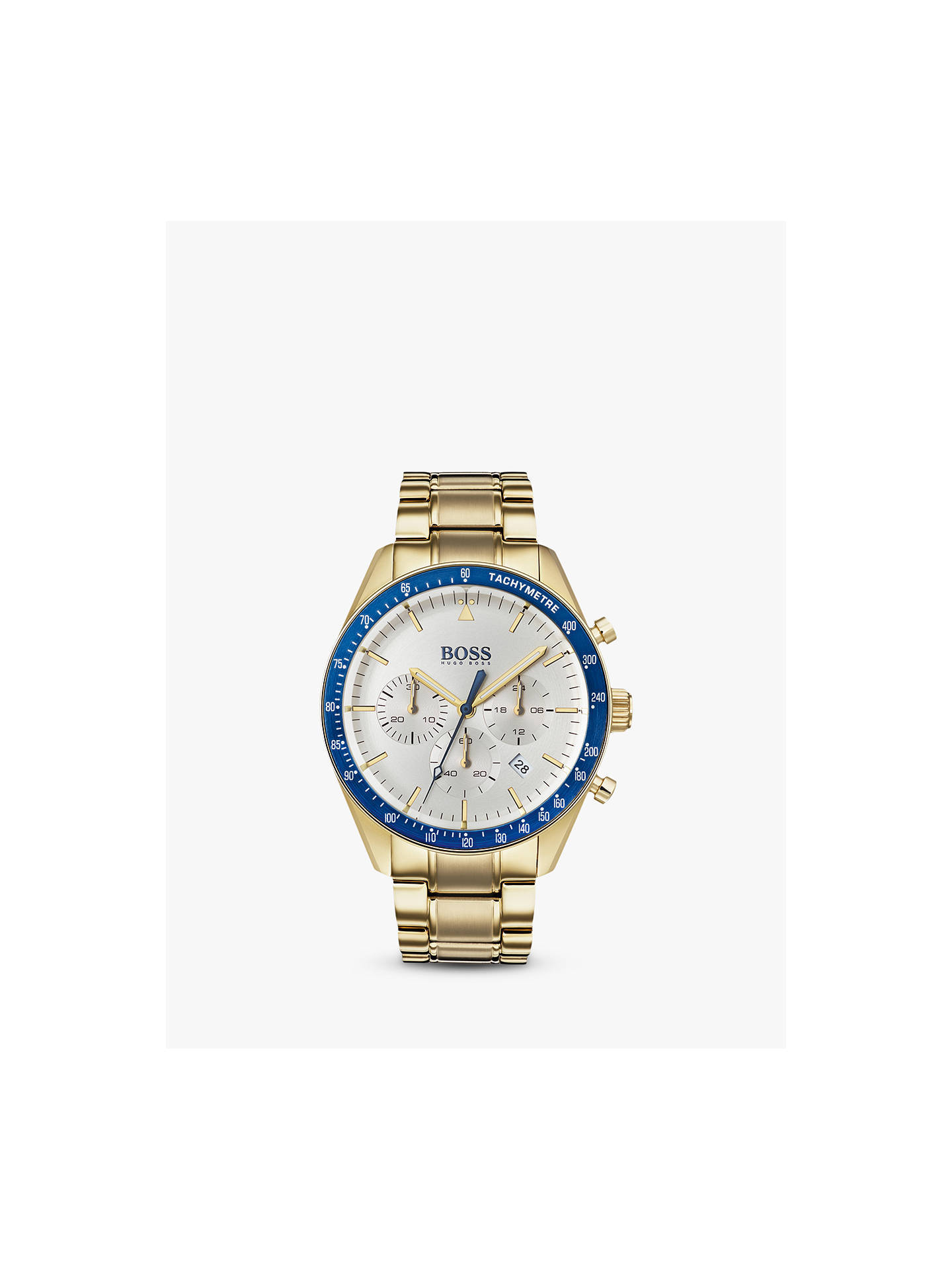 037764bdd Buy HUGO BOSS 1513631 Men's Trophy Chronograph Bracelet Strap Watch, Gold  Online at johnlewis.