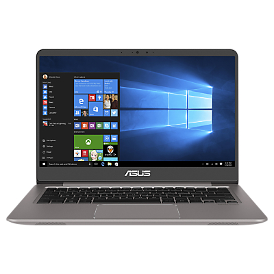 Image of ASUS ZenBook UX410UA Laptop, Intel Core i3, 4GB RAM, 256GB SSD, 14, Full HD, Silver