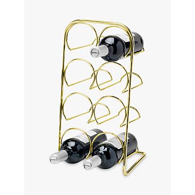 Hahn Pisa Wine Rack, 8 Bottles, Gold
