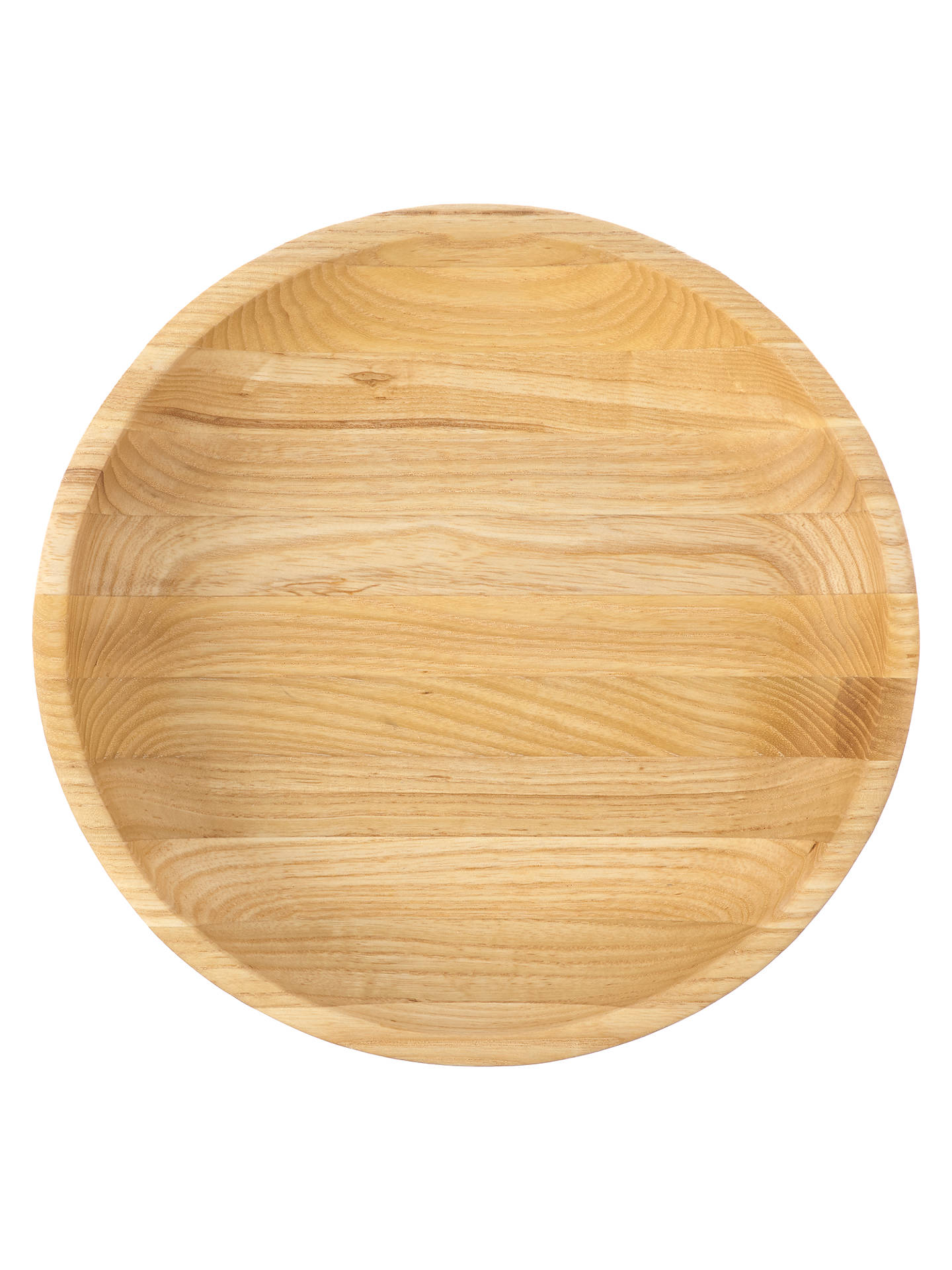 Buy John Lewis & Partners Coastal Ash Wood Shallow Serving Dish, 26cm Online at johnlewis.com