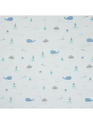 Cloud9 Sea Animals Sheeting Fabric, Blue