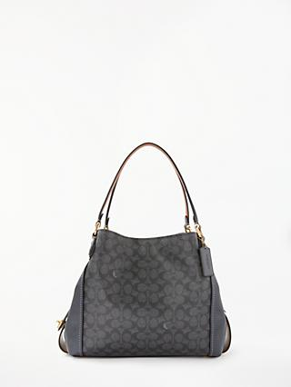 Coach E 31 Shoulder Bag Charcoal Midnight Navy
