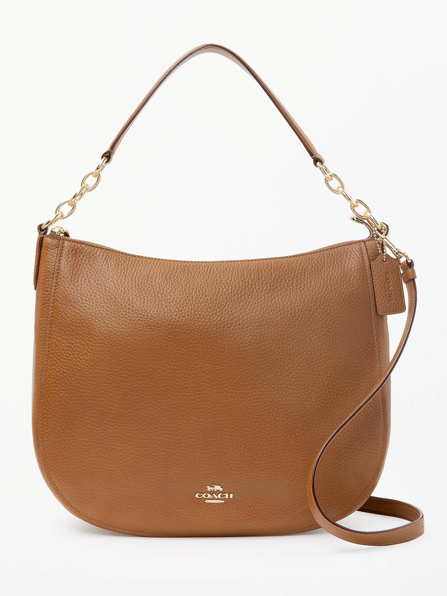 34448e012 Buy Coach Chelsea 32 Polished Leather Hobo Bag, 1941 Saddle Online at  johnlewis.com ...