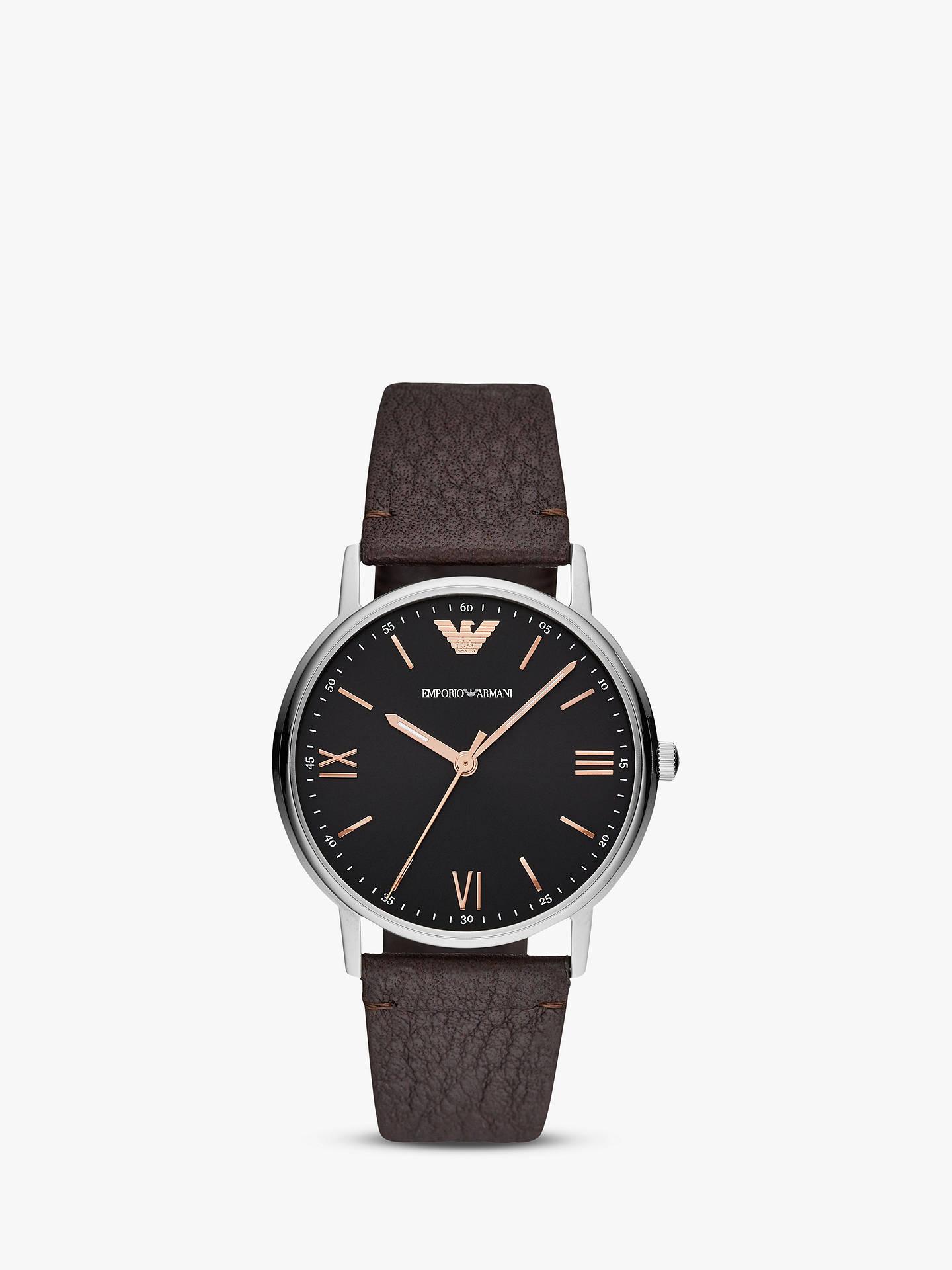 84d2f0206e89 Buy Emporio Armani AR11153 Men s Leather Strap Watch