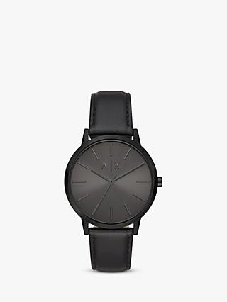 Armani Exchange Men's Leather Strap Watch