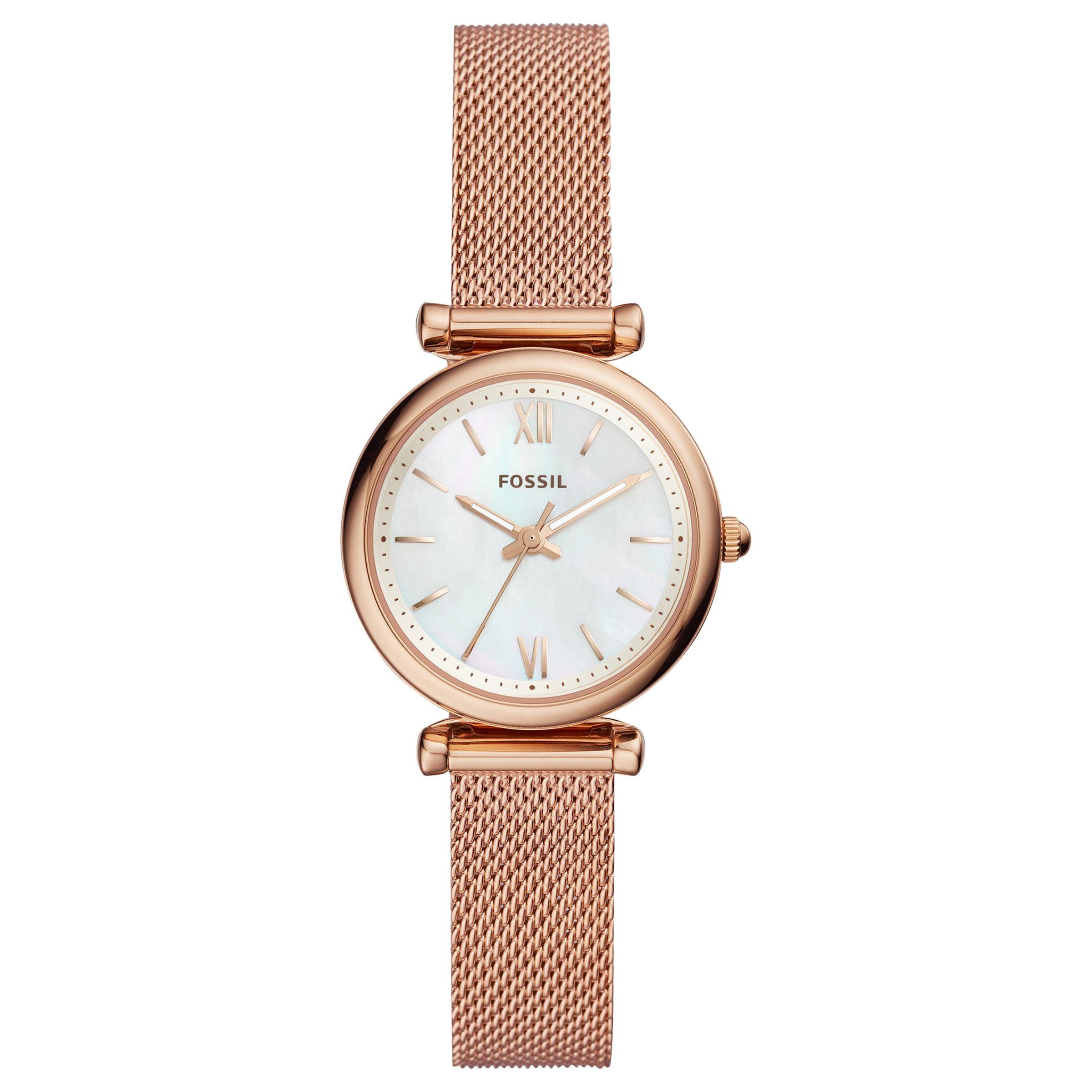 Fossil Fossil Women's Mini Carlie Bracelet Strap Watch