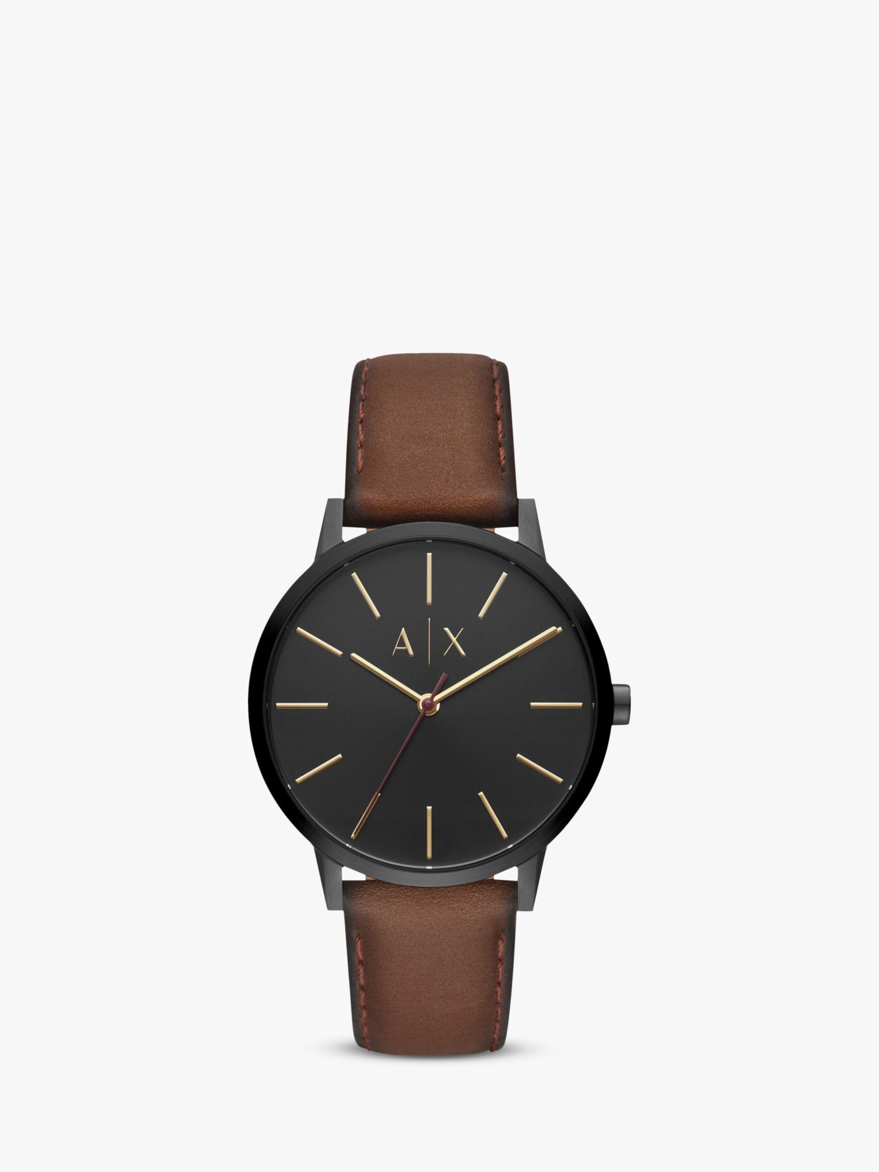 Armani Exchange Armani Exchange Men's Leather Strap Watch