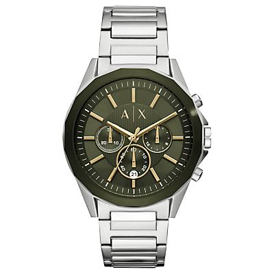 armani exchange men's chronograph date bracelet strap watch