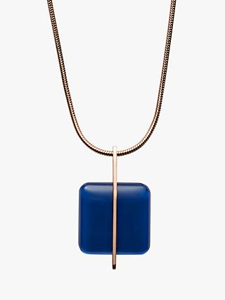 Skagen Seaglass Pendant Necklace, Rose Gold/Blue SKJ1134791