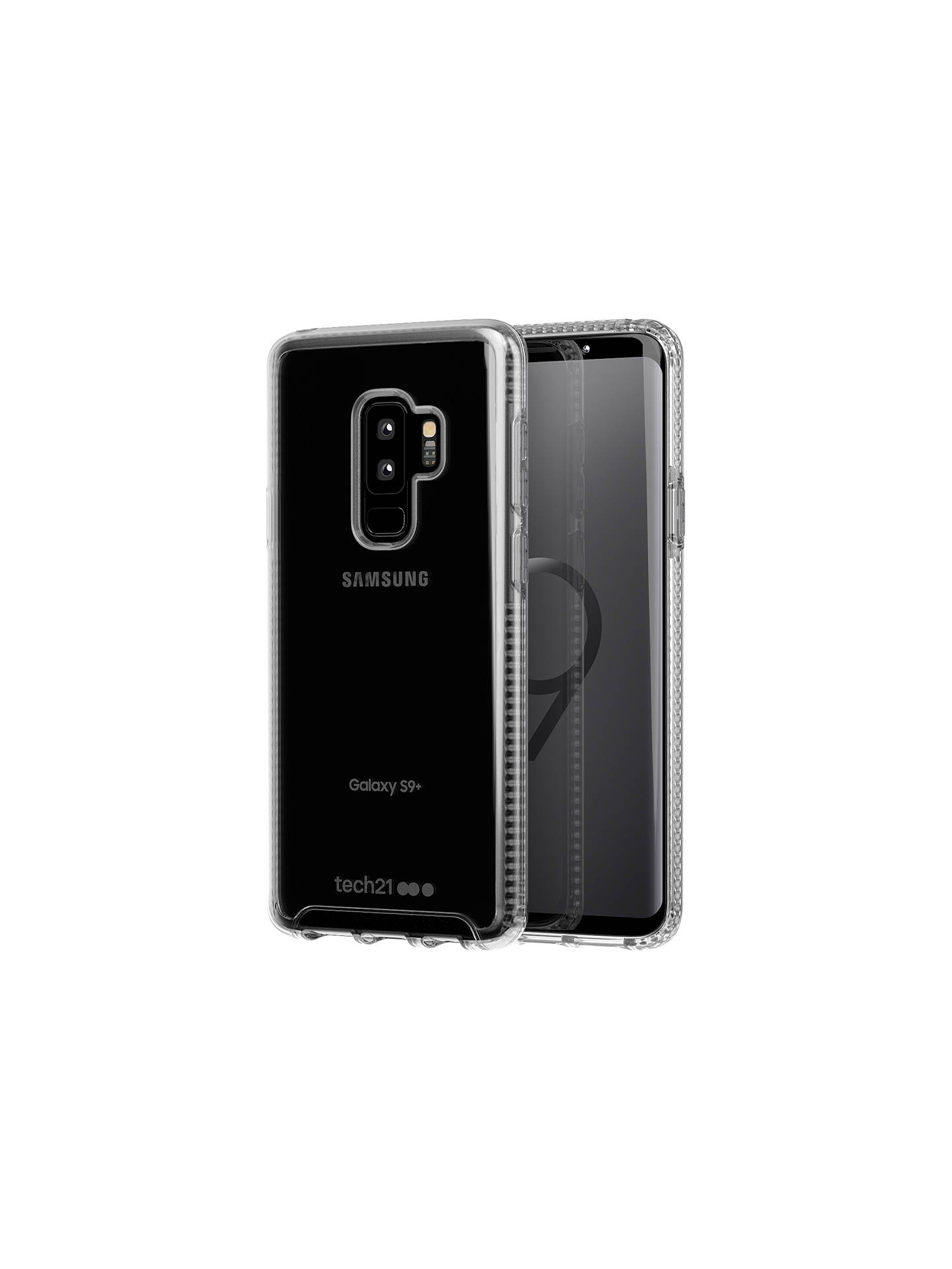 super popular 6c408 b5210 tech21 Pure Clear Case for Samsung Galaxy S9 Plus, Clear