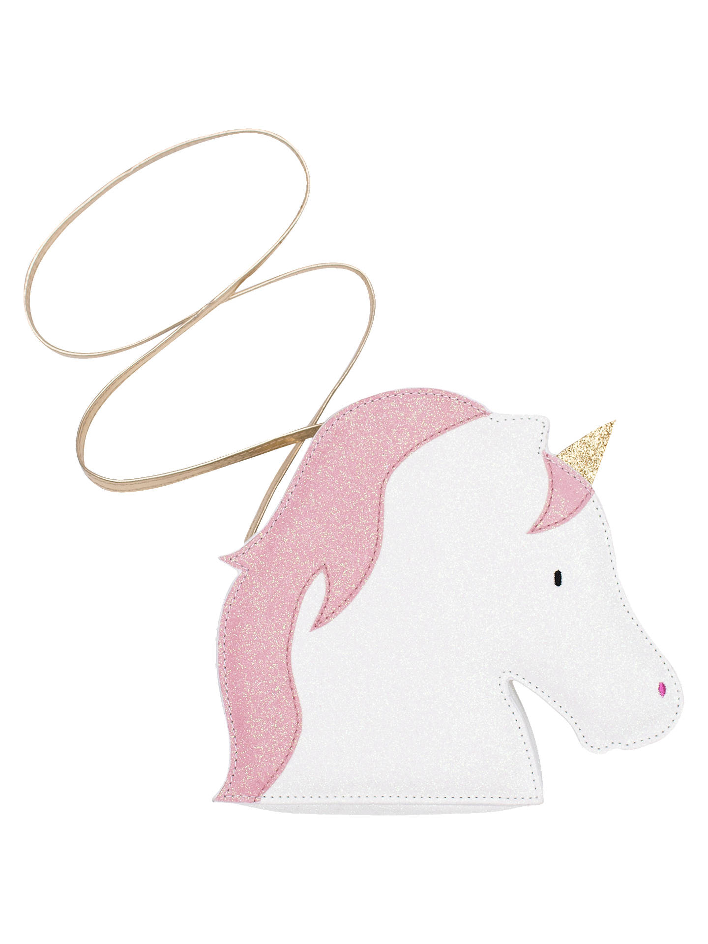 BuyBilly Loves Audrey Children's Glitter Unicorn Shoulder Bag, White/Pink Online at johnlewis.com