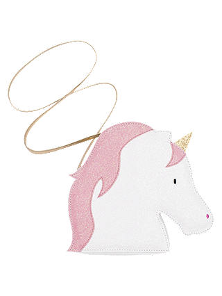 Buy Billy Loves Audrey Children's Glitter Unicorn Shoulder Bag, White/Pink Online at johnlewis.com