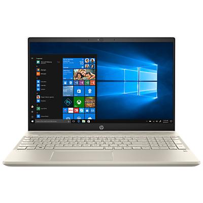 "Image of HP Pavilion 15-cs0998na Laptop, Intel Core i3, 8GB RAM, 128GB SSD, 15.6"", Gold/White"