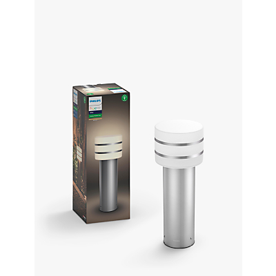 Philips Hue Tuar LED Pedestal Outdoor Light, Silver