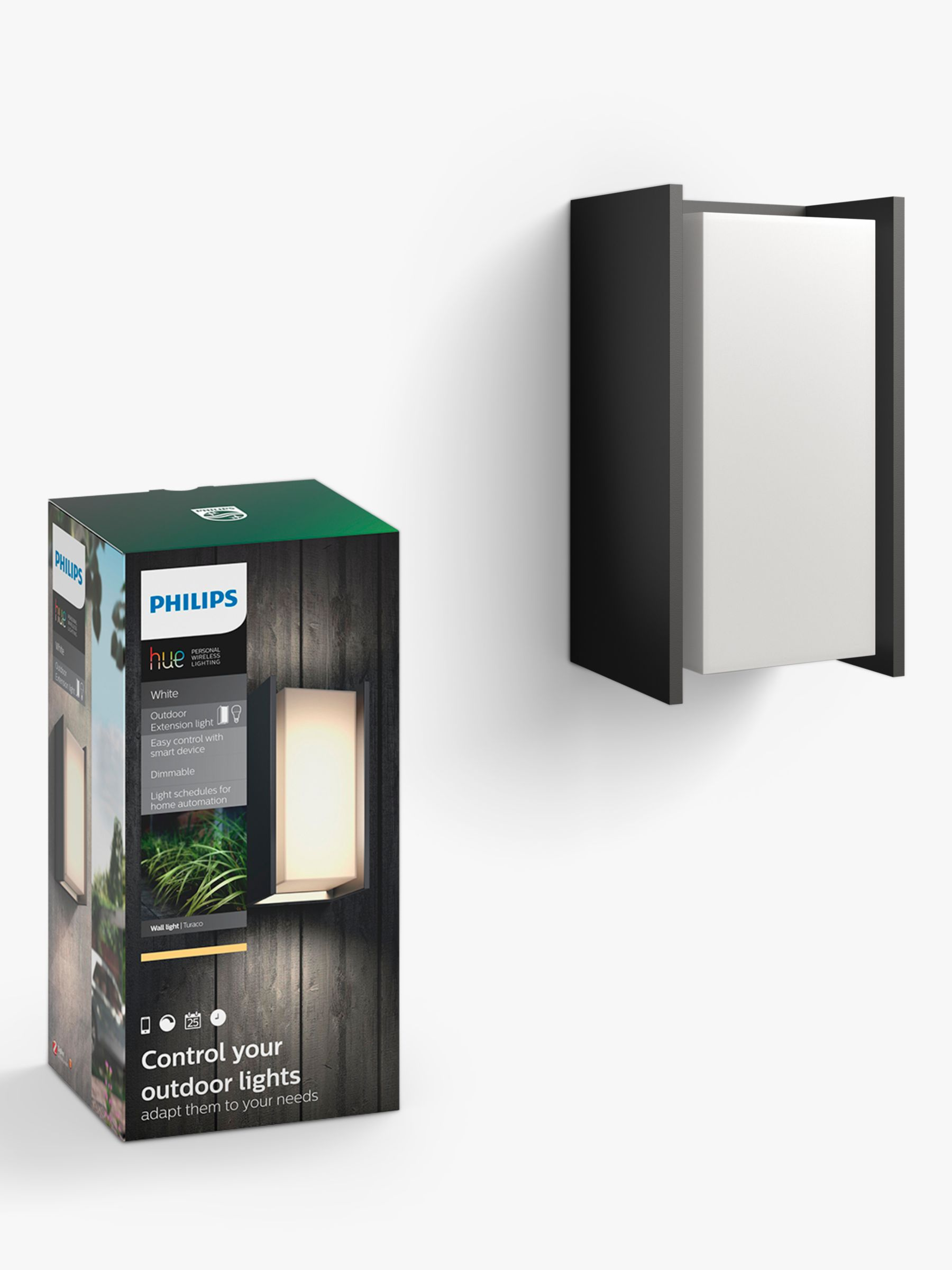 Philips Philips Hue Turaco LED Outdoor Wall Light, Black