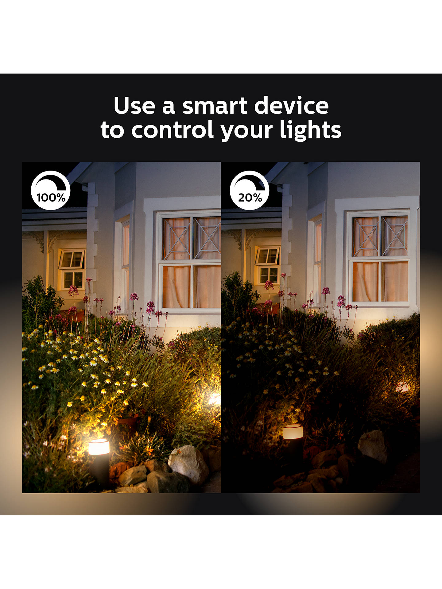 Buy Philips Hue Turaco LED Outdoor Wall Light, Black Online at johnlewis.com