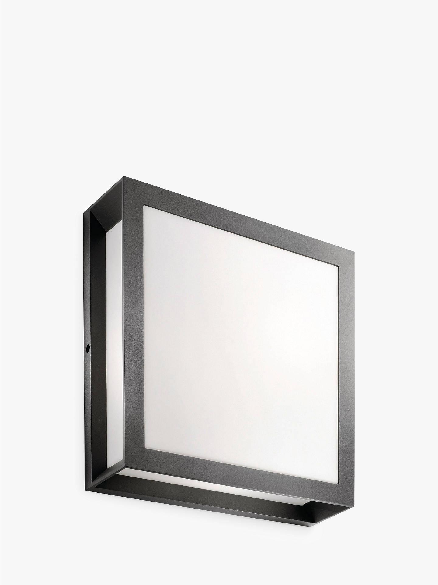 Philips Ecomoods Skies Flush Outdoor Light Black