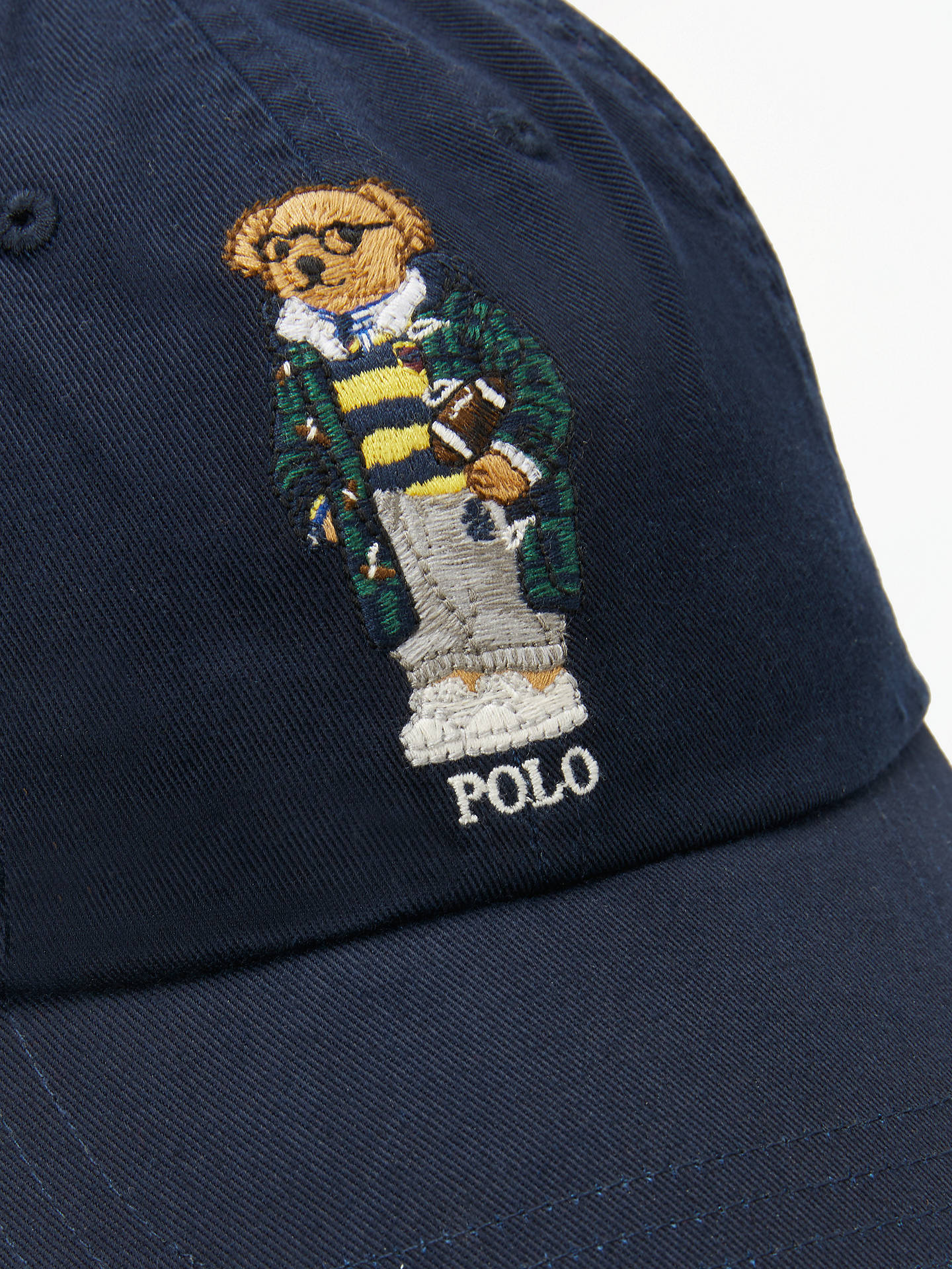 Buy Polo Ralph Lauren Bear Baseball Cap, One Size, Navy Online at johnlewis.com