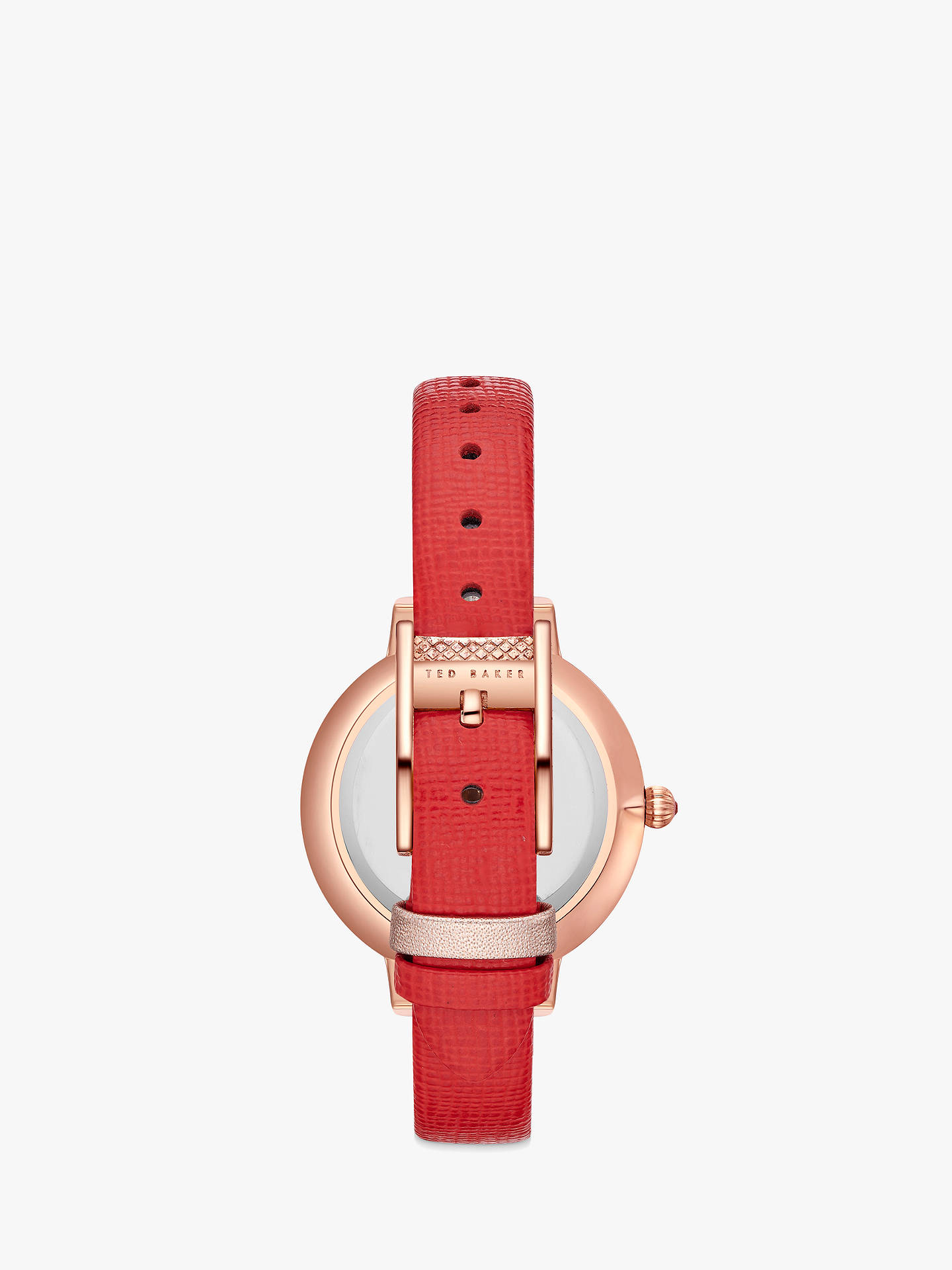 BuyTed Baker Women's Kate Leather Strap Watch, Red/Multi TE50005007 Online at johnlewis.com