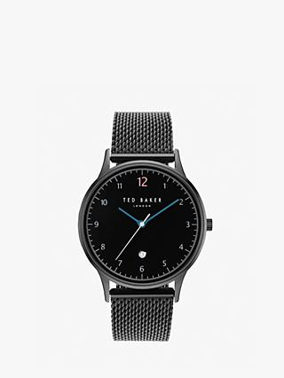 Ted Baker TE50519006 Men's Ethan Date Mesh Bracelet Strap Watch, Black